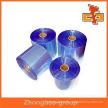 Emballage plastique film transpenrent PVC en rouleaux pour usage industriel