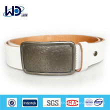 White Durable Women Leather Belts