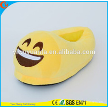 Hot Sell Novelty Design Laugh Plush Emoji Slipper with Heel