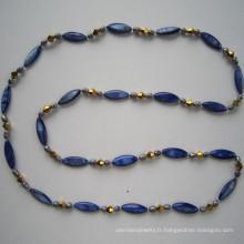 Perle de coquille longtemps vif & collier de perles d'eau douce
