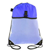 Drawstring Cinch Backpack With Mesh Pocket