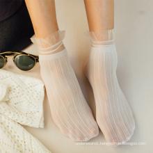 Simple Sheer White Lace Socks Sweet Style Short Socks For Girls