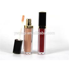 Precio barato del OEM moda labios brillo de contenedores con la marca de cliente de impresión de seda