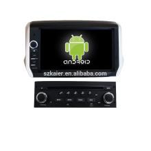 Quad core! Dvd do carro com link espelho / DVR / TPMS / OBD2 para 8 polegada tela sensível ao toque quad core 4.4 sistema Android PEUGEOT 208/2008