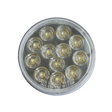 """LED 4 """"redondo de alta potencia llevó luz reversa automática para camión y remolque"""