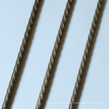 Fio de concreto protendido com nervuras em espiral de 3,4 mm 3,6 mm 3,8 mm