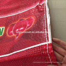 Bolsa de red tubular de PP para cebollas, papas, vegetales, ...
