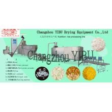 A linha de processamento de arroz artificial