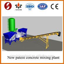 Estructura de la muestra 20-25m3 / h planta móvil de hormigón de dosificación a la venta