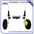 Sentado de aluminio en la parte superior Kayak canasta Scupper carrito Dolly Carrier Trolley