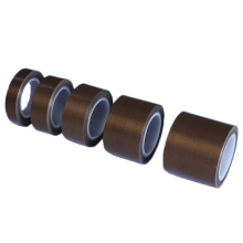 Heat resistant PTFE fiberglass tape with silicone adhesive