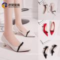 Low heel work shoes China shoe factory women's heels shoe