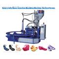 Type d'injection à vis verticale pour fabriquer des chaussures en gelée de PVC