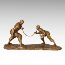 Eastern Statue Traditional Acrobatism Bronze Sculpture Tple-037