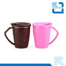 Corea 304 Taza de café de acero inoxidable con tapa de PP