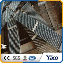 acero de bajo carbono o acero inoxidable Rejilla de acero de material, patas bajas antideslizantes