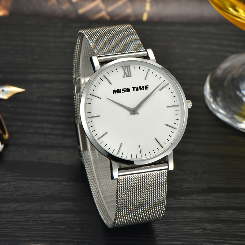 simple stylish slim stone quartz wrist watch