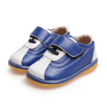 Navy and White Baby Boy Squeaky Shoes