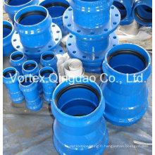 En545 / 598 Tuyau double doux en fonte ductile pour tuyaux en PVC