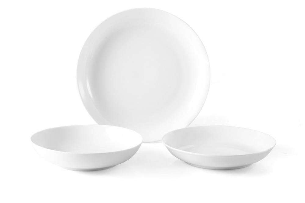 18PC Hotel White Dinnerware Set