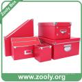 Caja de almacenamiento de papel duradero de cartón de escritorio