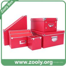 Boîte de rangement en papier pour papeterie durable
