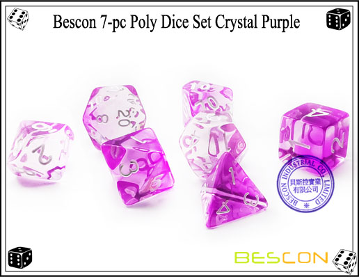 Crystal Purple Dice Set-2