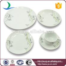 China-Fabrik-Blumen-Entwurfs-keramisches Großhandelsgeschirr