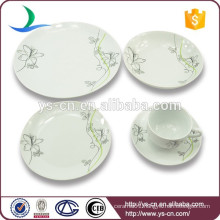 China Factory Flower Design Ceramic Wholesale Dinnerware