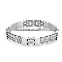 Novo Produto Aço Inoxidável 11 milímetros Triple Cable Link Bracelet para homens