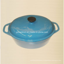 Enamel Oval Cast Iron Dutch Oven China Factory Size 33X26cm