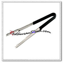 C368 9 Thickened Stainless Steel Ice Tongs With PP Handle