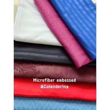 100% Polyester Microfiber Bedsheet Embossed Fabric
