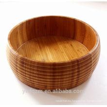 Tazón de fuente de ensalada de bambú hecho a mano grande respetuoso del medio ambiente respetuoso del medio ambiente