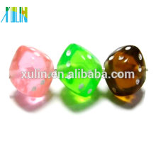 jewelry beads clear acrylic cube dice beads