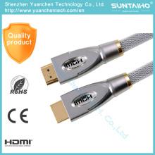 Cable HDMI de alta velocidad Nlyon 1080P de OEM de alta velocidad