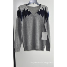 Jersey de manga larga con cuello en V jersey jersey
