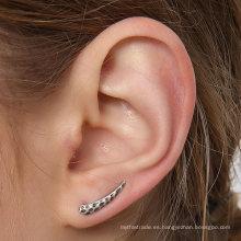 Pendientes a prueba de viento de la vendimia de plata esterlina acentuados Colección simple del oído