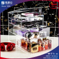 Atacado Custom Black Acrylic Makeup Organizer com logotipo