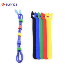 Fita de nylon do laço do gancho para costurar laços de cabo flexíveis