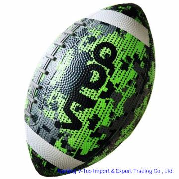 Glow Green and Black American Football