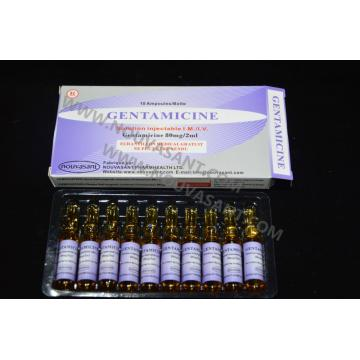 Injection de gentamicine