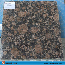 Natural Brown Granite Polished Stone Slab (Tan Brown)