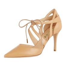 2019 Women Shoes Pointed Toe High Heels Pumps Stiletto Lace Up Party Shoes