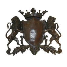 Relievo Brass Statue Lion Relief Wall Deco Bronze Sculpture Tpy-844