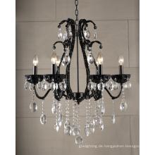 Moderne Kronleuchter Kristall Lampe (1476-6L schwarz)