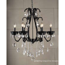 Modern Chandelier Crystal Lamp (1476-6L black)