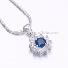factory price flower shape silver pendant main stone pendant