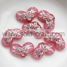 5*10*15MM Carved Jelly Colorful Brilliant Heart Charm Beads Purchase