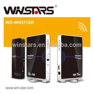 5Ghz WHDI Wireless Transmitter und Receiver AV-Kit, unterstützt Full HD 1080p Signale.